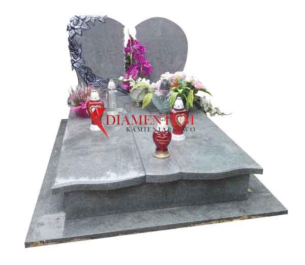 Nagrobek podwójny, grobowiec NG17, granit fiński Kuru Grey